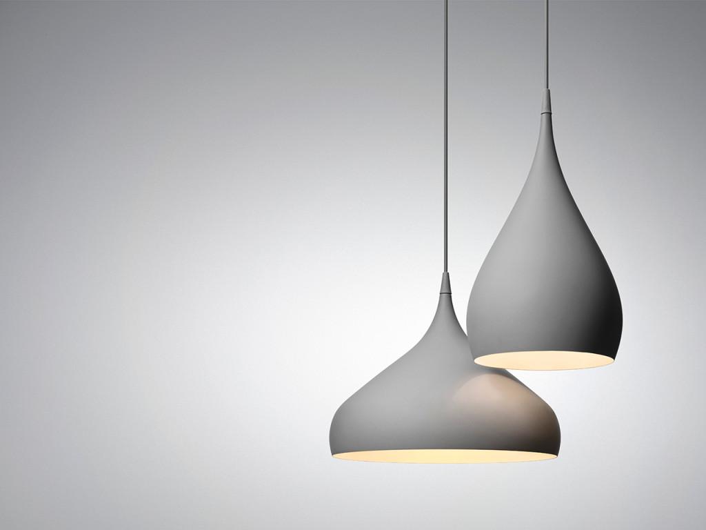 Spinning pendant - BH1+BH2 dark matt gray | &Tradition