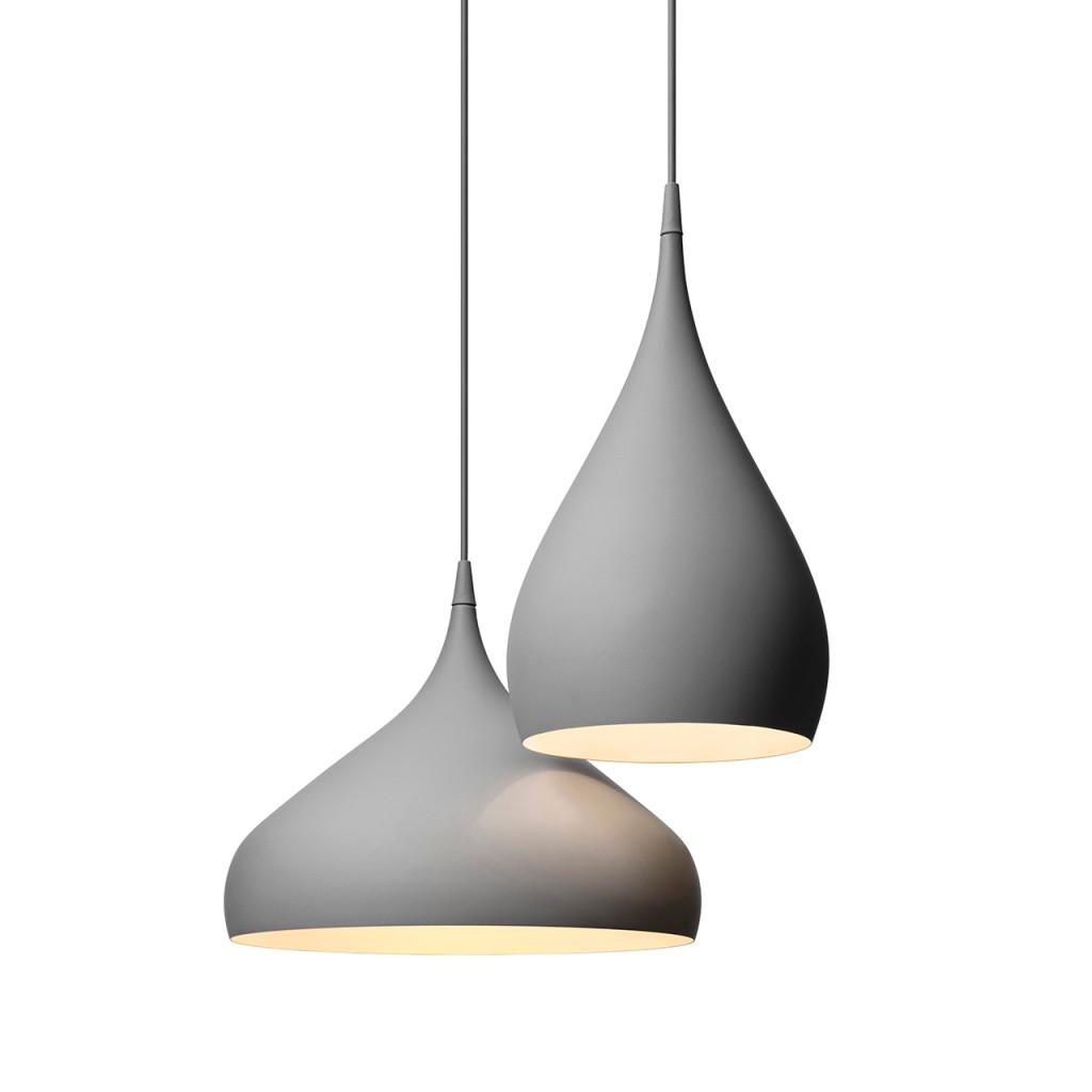 Spinning Light BH1, BH2 dark matt gray | &Tradition